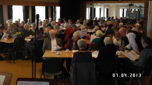 Full sal i Norheim Kulturhus