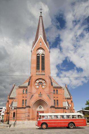 europe, norway, haugesund town, saviour church